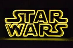 Star Wars Neon Sign 35x17x5 Custom Made Artwork Glass. High Quality Special Made