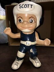 """Ceramic Personalized WRESTLER Hand Painted Stands 10"""" Tall"""