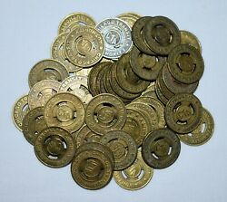 S2. Lot Of 50 Chicago Transit Authority Brass Tokens 20mm / Jewelry Cuff Link