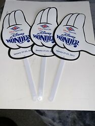 Dcl Wonder Disney Cruise Line January 21-23 2011 Sail Away Hands Lot Of 3