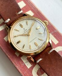 Vintage Tudor Air Tiger Manual Wind 7957 Waffle Dial Gold Capped Case Watch