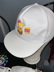 Vintage White Burger King Hats Snapback Lot Of Two Burger Fries Coca Cola Cup