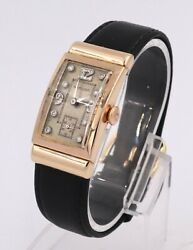 Hamilton Vintage Wrist Watch 17j Cal 980 14k Solid Rose Gold And Diamond Dial