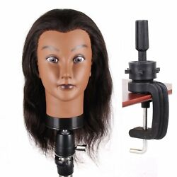 Jiayi 14 Afro Mannequin Head With 100 Human Hair Cosmetology Hairdresser Maniki