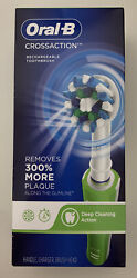 Braun Oral-b Crossaction Electric Rechargeable Toothbrush. New In Box. Green