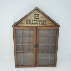 Vintage ENESCO quot;My Collectionquot; Wall Hanging Display Case w Doors 1977 Curio