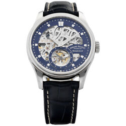 Armand Nicolet A622aaa-bu-p713bu2 Skeleton Blue Leather Manual Wind Menand039s Watch