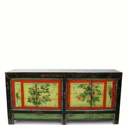 Hand Painted Antique Chinese Gansu Sideboard
