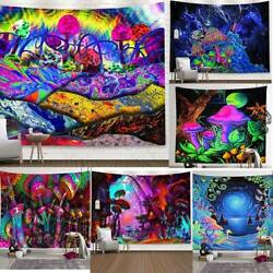 Trippy Psychedelic Mushroom Tapestry Background Hippie Wall Hanging Art Decors
