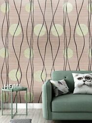 2-circle Print Wallpaper Sticker Home Wall Accent Contact Paper Free Shipping