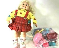 Vintage 1986 Playmates 25 Cricket Baby Doll Original Tape Many Accessories