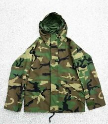 U.s. Military Real 2005 Ecwcs Gore-tex Parker Woodland Camouflage Jacket S-s
