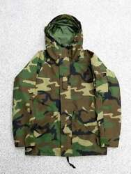 Tennessee Ecwcs Gore-tex Hoodie Woodland Camouflage Jacket Size S Men's Outer