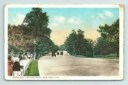 Central Park Speedway Cars Road New York City Ny Postcard