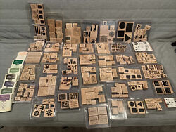 Huge Lot Of 280+ Stampinandrsquo Up Wood Rubber Stamps Holidays Art