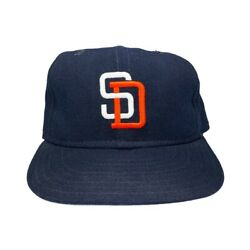 Vtg Rare Mlb San Diego Padres Diamond Collection Wool New Era Fitted Hat. 7 1/4