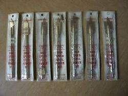 Vintage Millers Falls Nos New High Speed Steel Power Bits Lot Of 7 Made In Usa