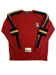 Vintage Polo Racing 1992 Ski Sport Red Blue Sweater Knit Padded Xl