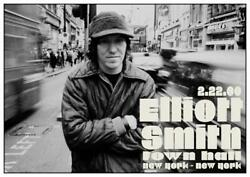 Elliott Smith POSTER live concert NEW YORK CITY 2 22 00 Town Hall FIGURE 8