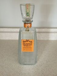 Vintage Old Grand Dad Bottled In Kentucky Empty Whiskey Decanter With Stamp