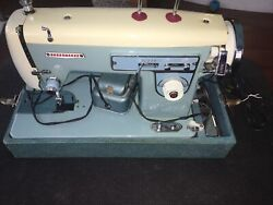 Vintage Dressmaker Sewing Machine With Case And Accessories