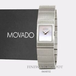 Authentic Movado Womenand039s Concerto Mother Of Pearl Dial Square Watch 0604532