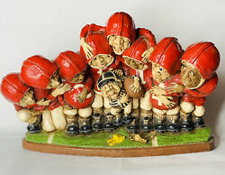 1976 Apsit Bros Of California Brothers Red Football Team Ref Chalk Ware