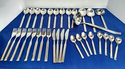 Remalux Stainless Flatware Germany Rostfrei Solingen Knives 33 Pieces Mcm
