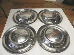 1953 Dodge Vintage Factory Oem 15-inch Hubcap Wheel Covers W/louvers Lot Of 4