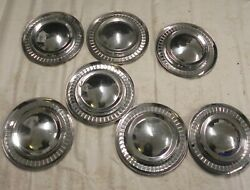 1956 Plymouth 15-inch Hubcap Wheel Covers Vintage Original Lot Of 7 Used