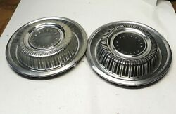 1969 Plymouth 15-inch Hubcap Wheel Covers Lot Of 2 Vintage Factory Oem Used