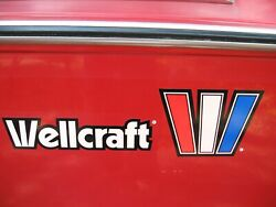 Wellcraft 3m Reflective Decals Stickers Factory Original Oem Set Of 2 Boat