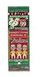 Neat Vintage Pep Boys Auto Accessories And Tires Matchbook 66 Cents Anti Freeze