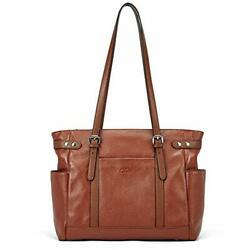 Laptop Totes for Women Genuine Leather Briefcase Large Ladies Shoulder Bag Wo... $139.76