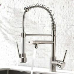 Aimadi Contemporary Kitchen Sink Faucet With Pull Down Sprayer Stainless Steel