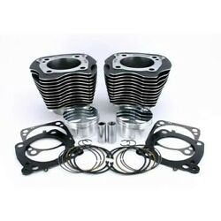 Zipper's Big Bore Cyl Kit Flat Pistons 107 To 117 Harley Milwaukee-eight 17-up
