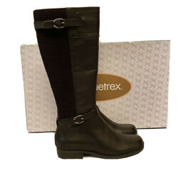 Aetrex Size 7 Chelsea Riding Boots Equestrian Black Orthotoc Comfort Msrp 199