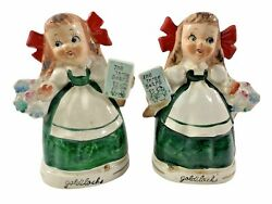 Vintage Relco Goldilocks And The Three Bears Salt And Pepper Shakers Japan B3
