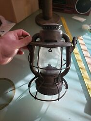 Dietz Vesta Marked Nycs Railroad Lantern Nyc Lines Embossed Clear Globe Cnx