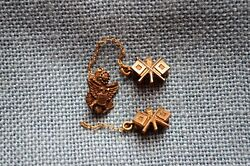 Lot Of 2 Small Wwii Signal Corps Sweetheart Pins