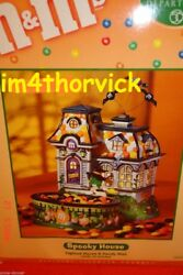 Dept. 56 Halloween Mandmand039s Spooky House 59319 2004 Lighted House And Candy Dish