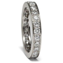 Vintage Ring From White Gold With 1,30 Ct Diamonds, Rw 55, Um 1960