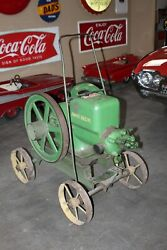 1920s Antique John Deere Hit And Miss Engine On Cart Type E 3hp Untested