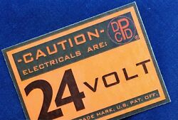 24 V Firewall Dpcd Electrical Warning Label — For Dodge Military Truck Plymouth