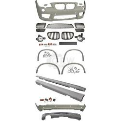 Bumper + Side Sills + Fog Accessories Kit For Bmw X1 E84 09-12 M Package