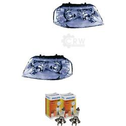 Xenon Headlight Set For Seat Year 00-10 Facelift Bosch Incl. Lamps