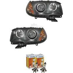 Xenon Headlight Set For Bmw X3 Year 04-06 With Indicator Yellow D2s+h7
