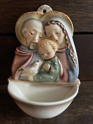 Collectible Vintage William Goebel Hummel Holy Family Holy Water Wall Font