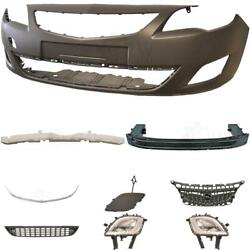Set Front Bumper Carrier+accessories+fog For Opel Astra J Year 09-12