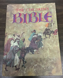 The Childrens Bible Illustrated Hardcover 1965 Golden Press